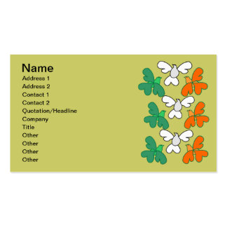 Trevo-pássaros irlandeses modelo de cartões de visita