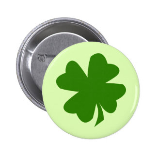 Trevo verde St Patrick afortunado da folha do trev Bóton Redondo 5.08cm