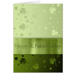 Trevos do dia de St Patrick nobre - cartão