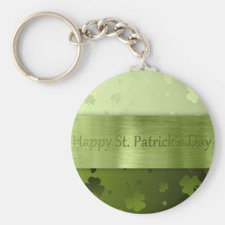 Trevos do dia de St Patrick nobre - chaveiro