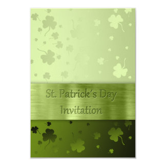 Trevos do dia de St Patrick nobre - convite
