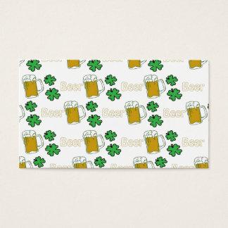 Trevos irlandeses da cerveja cartão de visitas