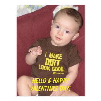 Trey 2a, olá! & dia dos namorados feliz! cartão postal