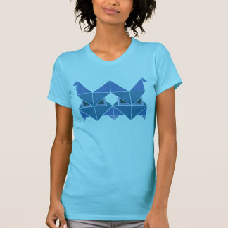Tri azul de Figura Camiseta