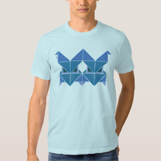 Tri azul de Figura Camisetas