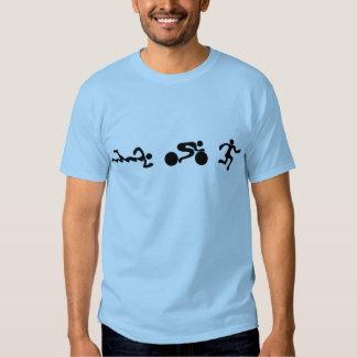 TRI design abundante PRETO funcionado da natação Camisetas