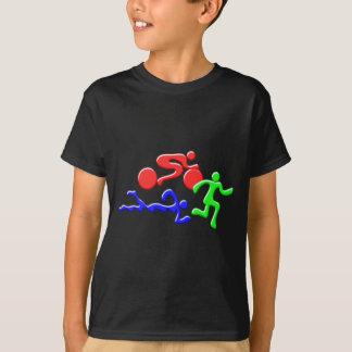 TRI figuras design da COR do funcionamento da Camiseta