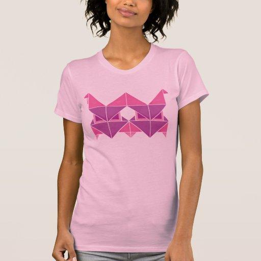 Tri rosa de Figura Tshirt