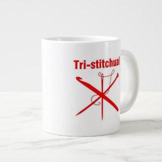 Tri-stitchual caneca