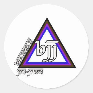 Triângulo de Jiu Jitsu BJJ do brasileiro do Adesivos Redondos
