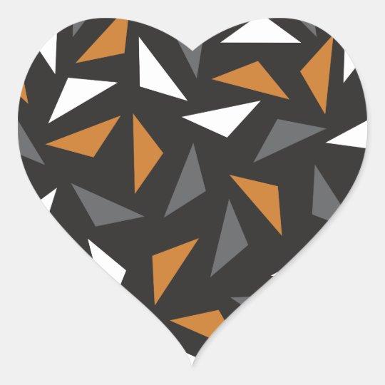 Triângulos animados adesivo coração
