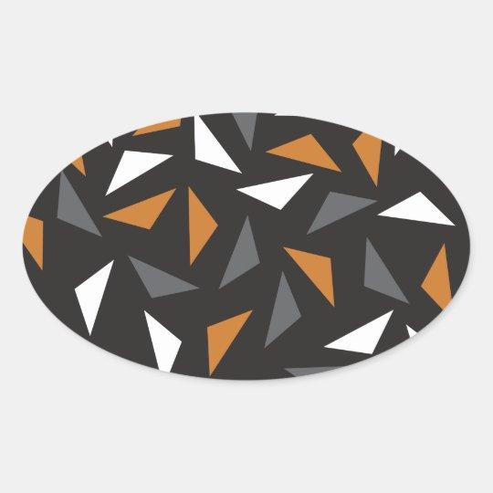 Triângulos animados adesivo oval