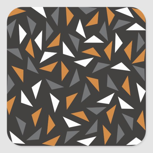 Triângulos animados adesivo quadrado
