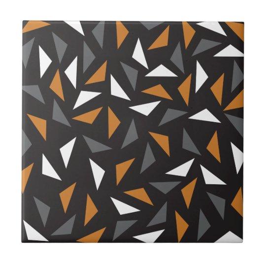 Triângulos animados azulejo quadrado pequeno