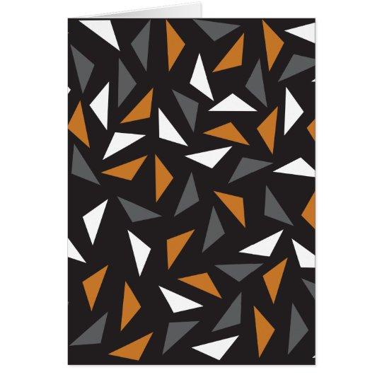 Triângulos animados cartão comemorativo