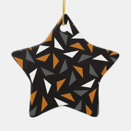 Triângulos animados ornamento de cerâmica estrela