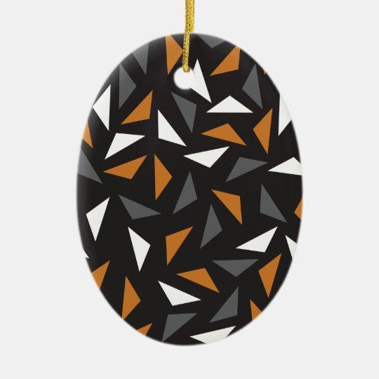 Triângulos animados ornamento de cerâmica oval