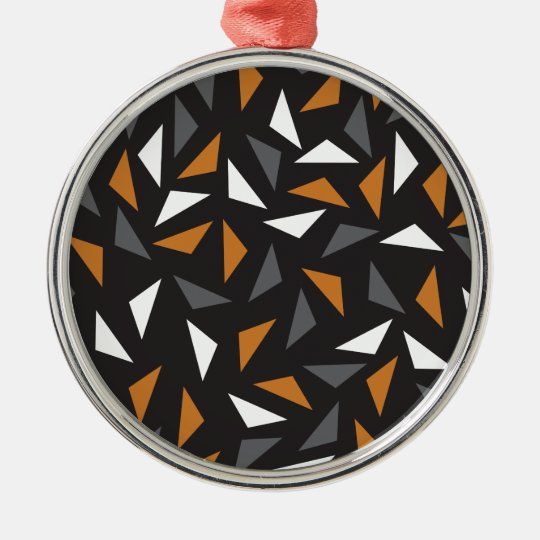 Triângulos animados ornamento redondo cor prata