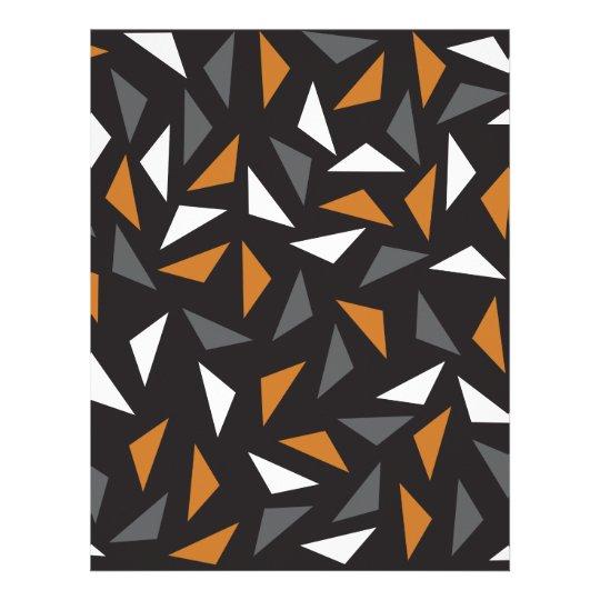 Triângulos animados papel timbrado