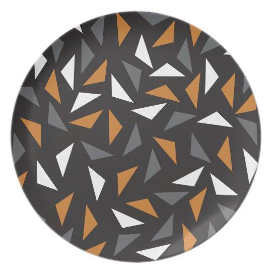 Triângulos animados prato