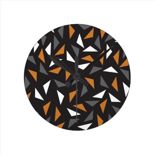 Triângulos animados relógio redondo