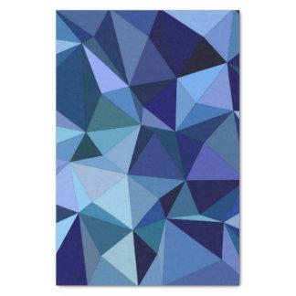 Triângulos azuis papel de seda