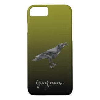 Triângulos cinzentos geométricos do corvo capa iPhone 7