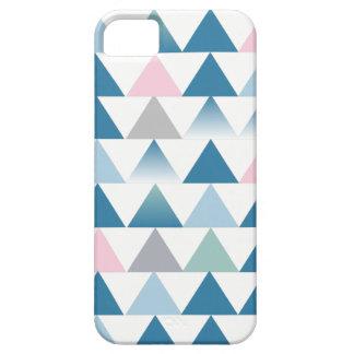 Triângulos cor-de-rosa azuis capa para iPhone 5