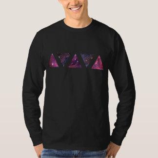 Triângulos do espaço (T longo da luva) Camiseta