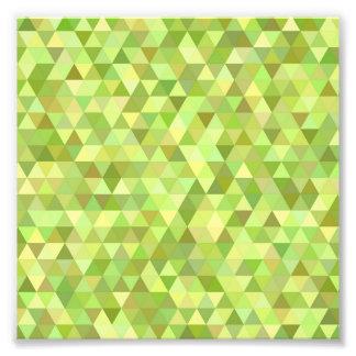 Triângulos do limão impressão de foto