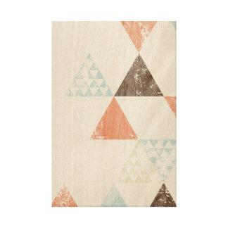 Triângulos do vintage impressão de canvas envolvida