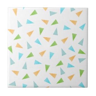 Triângulos em cores pastel, teste padrão moderno