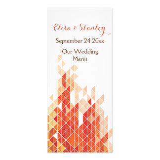 Triângulos geométricos alaranjados que wedding o 10.16 x 22.86cm panfleto