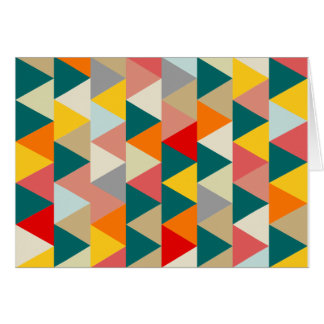 Triângulos geométricos do estilo escandinavo cartão