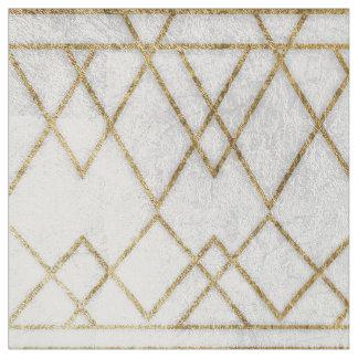 Triângulos geométricos do ouro moderno chique do tecido