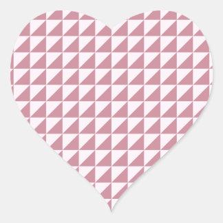 Triângulos - laço cor-de-rosa e Puce Adesivos Em Forma De Corações