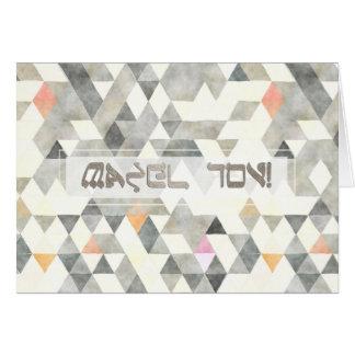 Triângulos Mazel Tov/felicitações de PixDezines Cartão Comemorativo