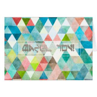 Triângulos Mazel Tov/felicitações de PixDezines Cartão De Nota