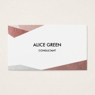 Triângulos pastel brilhantes cartão de visitas