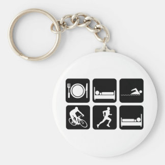 Triathlon engraçado chaveiro