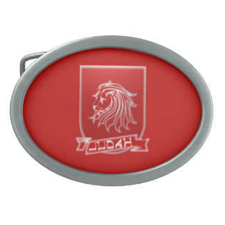 Tribo de fivela de cinto oval vermelha da crista