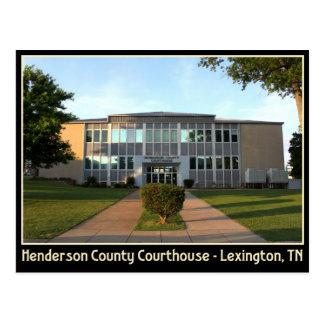 Tribunal do Condado de Henderson - Lexington, TN Cartão Postal