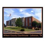 Tribunal do Condado de Wilson - Líbano, TN Cartões Postais