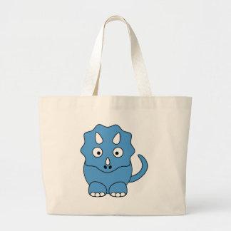 Triceratops dos desenhos animados (azul) bolsa para compras