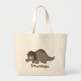 Triceratops dos desenhos animados bolsa para compras