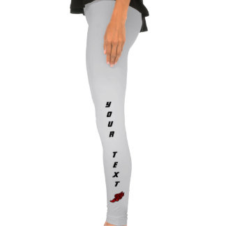 Trilha (logotipo vermelho) calças leggings