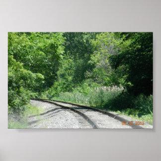 Trilhas de estrada de ferro pôster