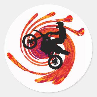 Trilhas do fogo de Moto Adesivo