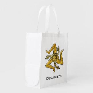 Trinacria siciliano personaliza sacola ecológica