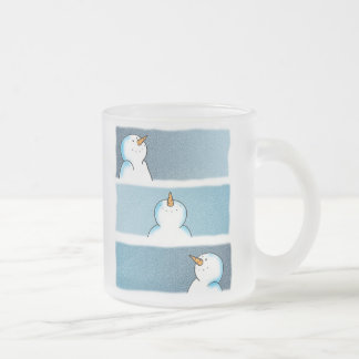 Trio da neve caneca de café vidro jateado